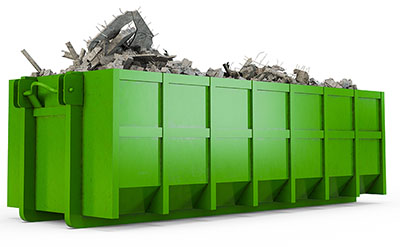 A Green Dumpster Rental