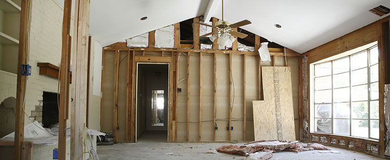 Image of a Living Room being Remodeled